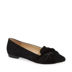 SOLE SOCIETY 6.5 Black Suede Lydiah Ballet Flats